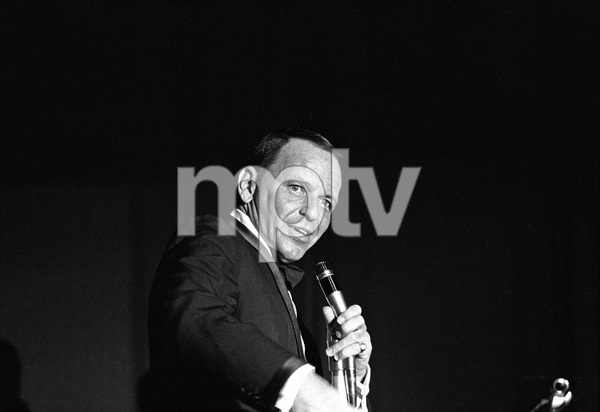Frank Sinatra performing at The Sands Hotel in Las Vegas, Nevada 1964 © 1978 David Sutton  - Image 0337_2436