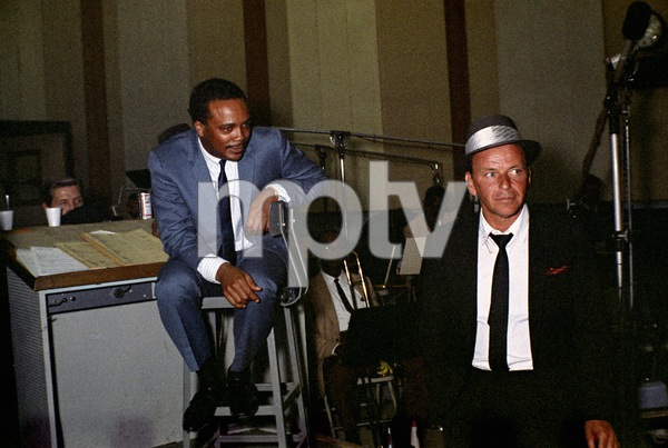 Frank Sinatra and Quincy Jones at a recording session 1964 © 1978 Ed Thrasher - Image 0337_2460