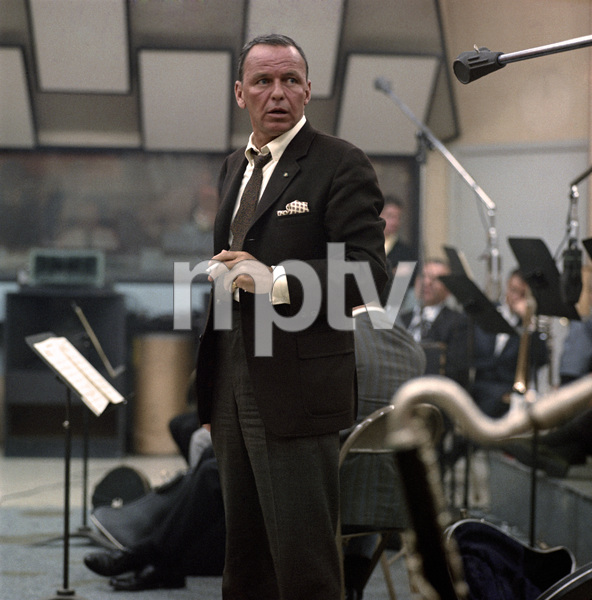 Frank Sinatra at a recording sessioncirca 1968 © 1978 Ed Thrasher - Image 0337_2461