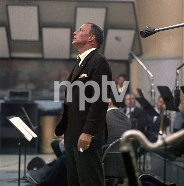 Frank Sinatra at a recording sessioncirca 1968 © 1978 Ed Thrasher - Image 0337_2462