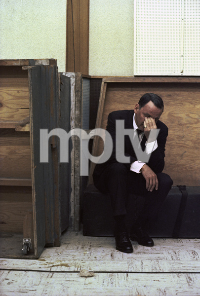 Frank Sinatra at a Reprise recording session1966 © 1978 Ed Thrasher - Image 0337_2474