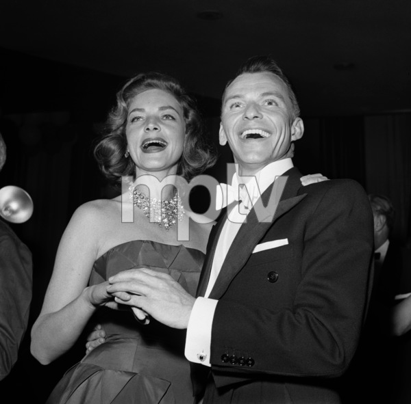 Frank Sinatra and Lauren Bacall making a personal appearance for a fundraising event07-02-1955** I.V. - Image 0337_2495