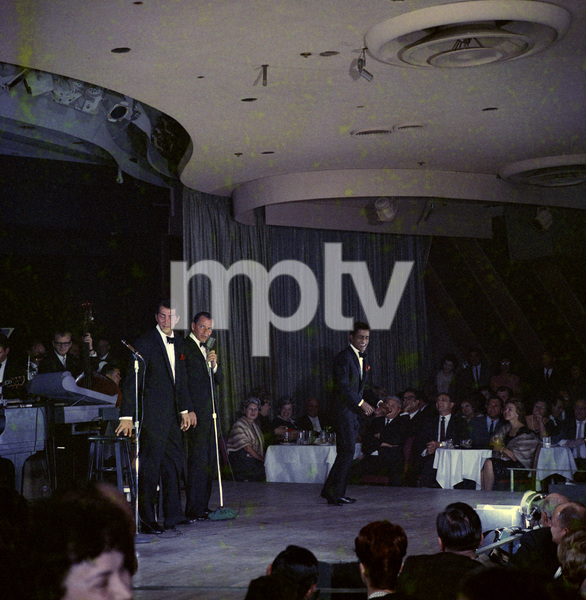 Frank Sinatra, Dean Martin and Sammy Davis Jr. performingcirca 1960 © 1978 Ted Allan - Image 0337_2582