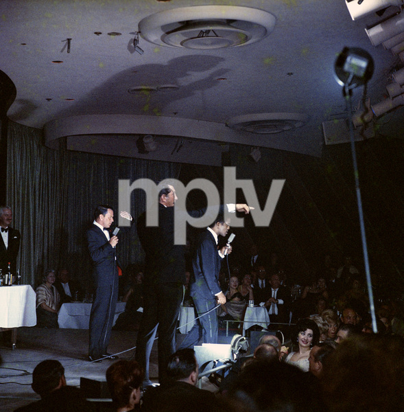 Frank Sinatra, Dean Martin and Sammy Davis Jr. performingcirca 1960 © 1978 Ted Allan - Image 0337_2583