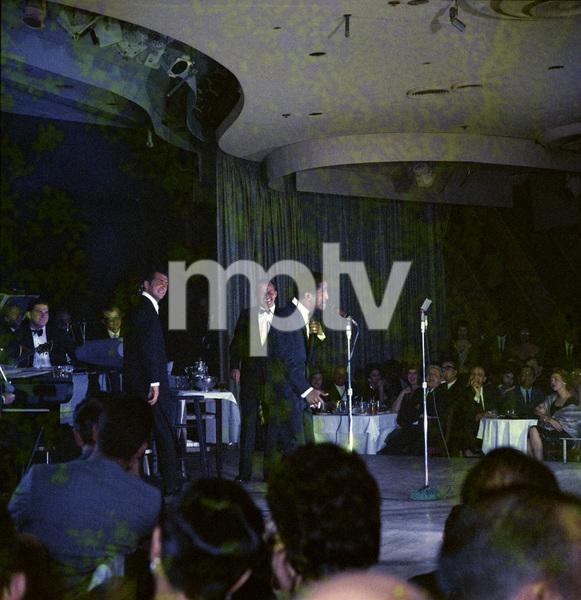 Frank Sinatra, Dean Martin and Sammy Davis Jr. performingcirca 1960 © 1978 Ted Allan - Image 0337_2584