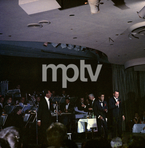Frank Sinatra, Dean Martin and Sammy Davis Jr. performingcirca 1960 © 1978 Ted Allan - Image 0337_2589