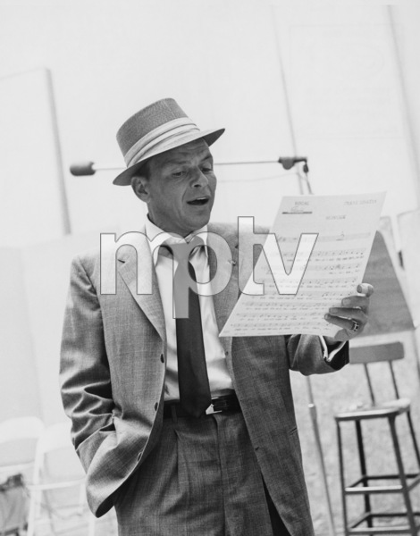 """Frank Sinatra at Capitol Records during a recording session for the song """"Monique"""" 1954 © 1978 Sid Avery - Image 0337_2698"""
