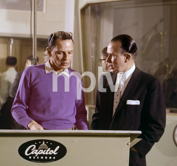 Frank Sinatra and Glenn Wallichs at a Capitol Records recording session 1956** R.A.C. - Image 0337_2751