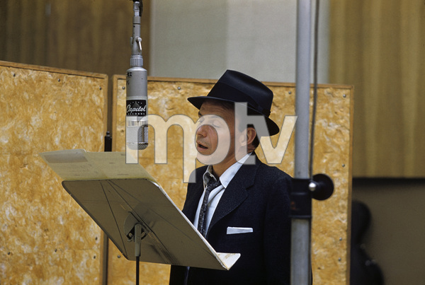 Frank Sinatra at a Capitol Records recording session in Los Angeles circa 1957 © 1978 Sid Avery** R.A.C. - Image 0337_2757