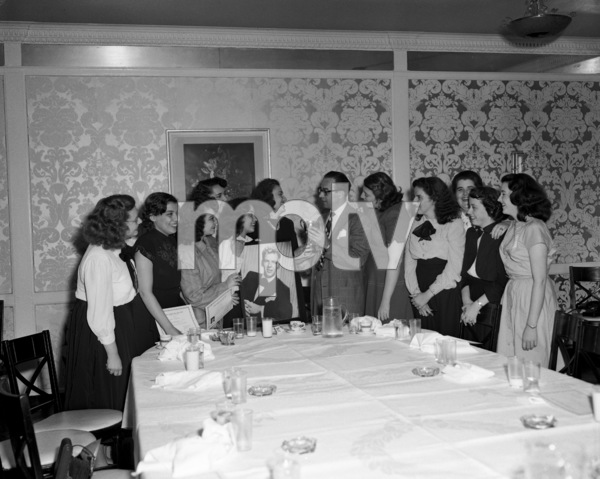 The officers of the original Frank Sinatra Fan Clubs Guild