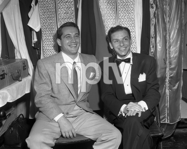 Frank Sinatra and Perry Como backstage at the Copacabana (nightclub) circa 1943 © 1978 Barry Kramer - Image 0337_2864