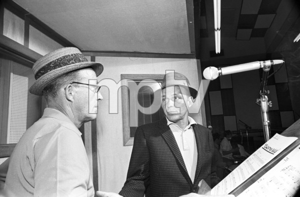 Frank Sinatra at a Reprise recording session with Bing Crosby1964© 1978 Ed Thrasher - Image 0337_2908