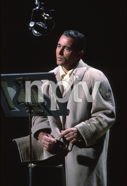 "Perry Como rehearsing for ""The Perry Como Show""on NBC / Dec. 1962. © 1978 George E. Joseph. - Image 0505_0006"