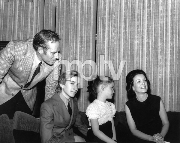 Charlton Heston with his wife Lydia and KidsFraser and Holly c. 1968**J.S.  - Image 0527_0463