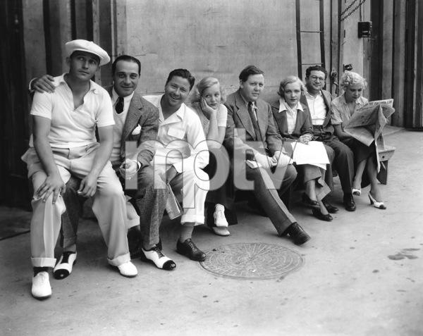 Charles Laughton, Bing Crosby, Ricardo Cortez, Jack Oakie, Lilyan Tashman, Harry Green, at Paramount Studios,  circa 1932, **I.V. - Image 0542_0031