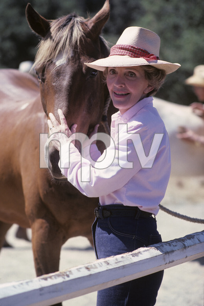 Nancy Reagan at Rancho del Cielo in Santa Ynez, CA1980© 1980 Gunther - Image 0554_0036