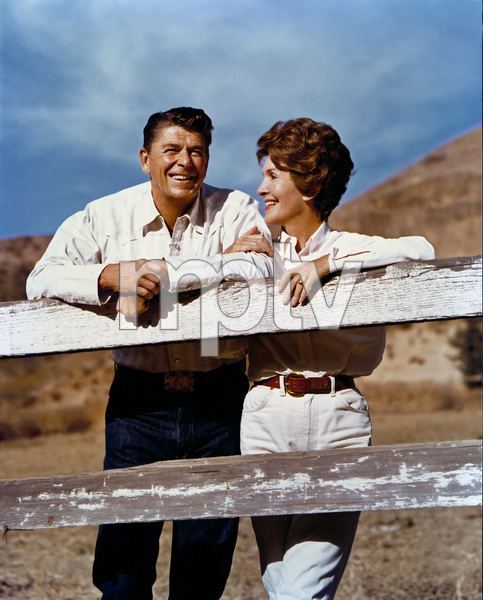 Nancy and Ronald Reagan at Rancho del Cielo circa early 1970s © 1978 John Engstead - Image 0554_0054