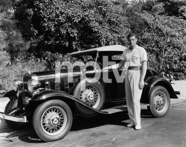 Johnny Weissmuller and his 1935 ChevroletCirca 1936**I.V. - Image 0579_0112
