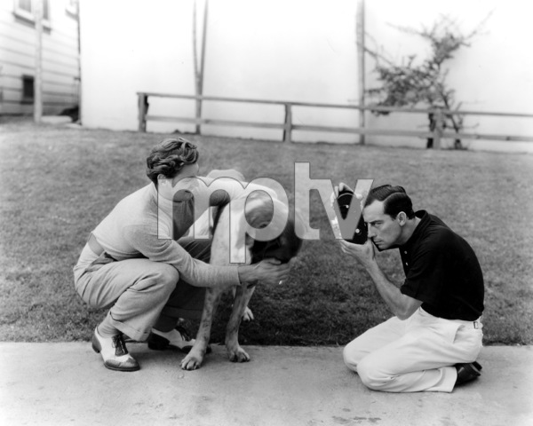Johnny Weissmuller with Buster Keaton Circa 1932 MGM**I.V. - Image 0579_0116