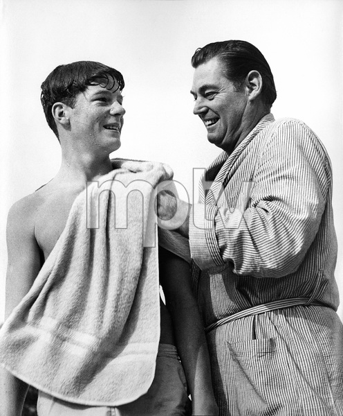 Johnny Weissmuller with his son Johnny Jr. in Los Angeles, CA1955Photo by Ernest E. Reshovsky © 2000 Marc Reshovsky - Image 0579_0133
