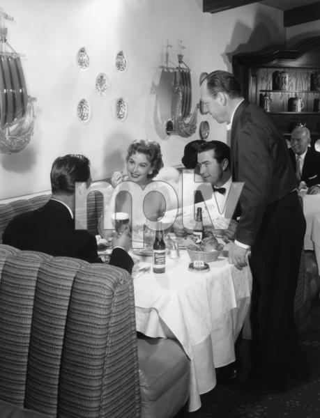 Rhonda Fleming in a Rheingold beer advertisementcirca 1950s© 1978 Paul Hesse - Image 0606_0340