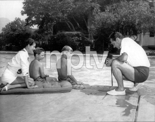 William Holden with wife Brenda, sons Scott and Wesfield, c. 1955.Paramount / **I.V. - Image 0623_0160