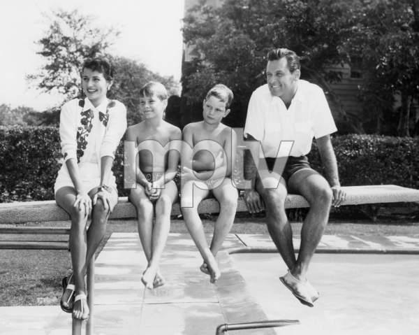Brenda Marshall, William Holden and kids circa 1954** I.V./M.T. - Image 0623_0199