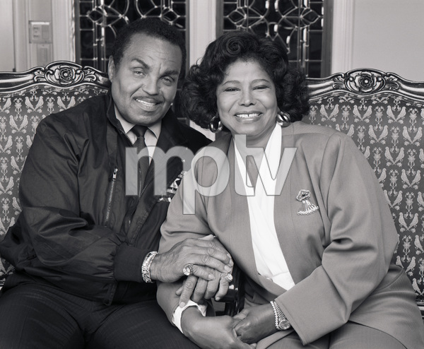 "Joseph ""Joe"" Jackson and Katherine Jackson at their home in Encino, CA1989 © 2009 Bobby Holland - Image 0628_0057"