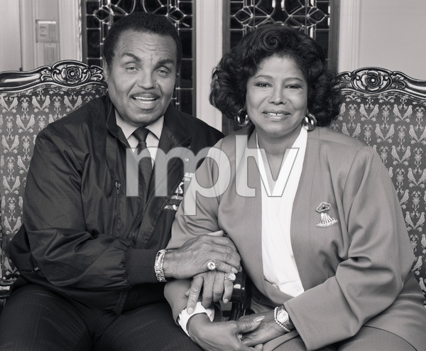 "Joseph ""Joe"" Jackson and Katherine Jackson at their home in Encino, CA1989 © 2009 Bobby Holland - Image 0628_0058"