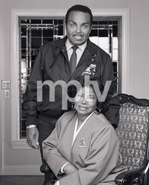 "Joseph ""Joe"" Jackson and Katherine Jackson at their home in Encino, CA1989 © 2009 Bobby Holland - Image 0628_0059"