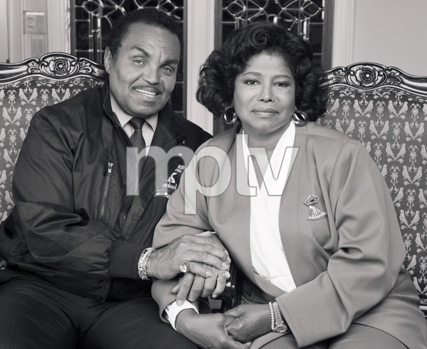 "Joseph ""Joe"" Jackson and Katherine Jackson at their home in Encino, CA1989 © 2009 Bobby Holland - Image 0628_0060"