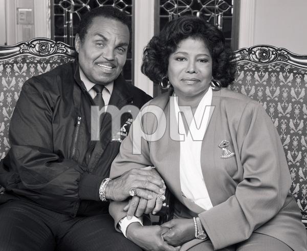 "Joseph ""Joe"" Jackson and Katherine Jackson at their home in Encino, CA1989 © 2009 Bobby Holland - Image 0628_0060"