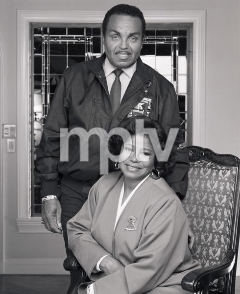 "Joseph ""Joe"" Jackson and Katherine Jackson at their home in Encino, CA1989 © 2009 Bobby Holland - Image 0628_0061"