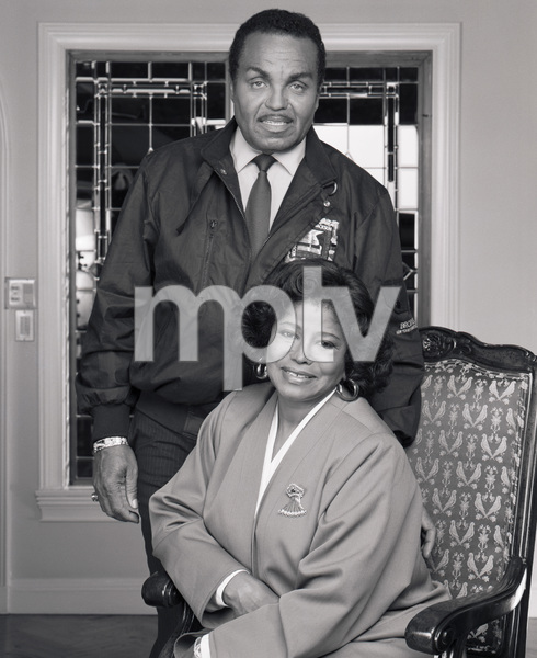 "Joseph ""Joe"" Jackson and Katherine Jackson at their home in Encino, CA1989 © 2009 Bobby Holland - Image 0628_0061"