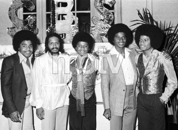 """CBS Records Black Music Convention"" Tito Jackson, Mtume, Randy Jackson, Jackie Jackson, Michael Jackson1978 © 2009 Bobby Holland - Image 0628_0150"