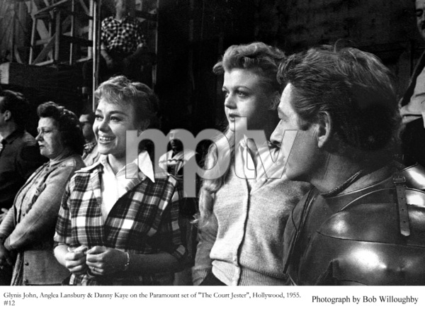 """Angela Lansbury, Glynis John and Danny Kaye on theset of """"The Court Jester"""" 1955 Paramount © 1978 Bob Willoughby - Image 0633_0032"""