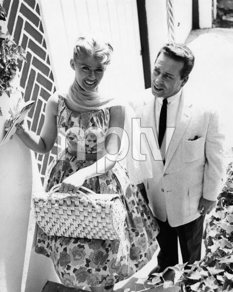 Connie Stevens and father in front of their housecirca 1962 Photo by Joe Shere - Image 0658_0108