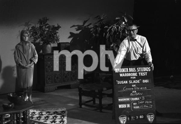 "Connie Stevens during a wardrobe test for the film ""Susan Slade""1960© 1978 David Sutton - Image 0658_0129"