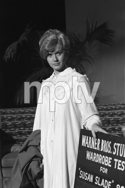 "Connie Stevens during a wardrobe test for the film ""Susan Slade""1960© 1978 David Sutton - Image 0658_0132"