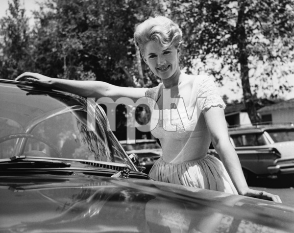 Connie Stevens at home with her new convertiblecirca 1960sPhoto by Joe Shere - Image 0658_0161