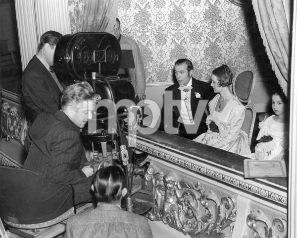 """Director Anatole Litvak, Charles Boyer, Bette Davis, Virginia Weidler.  """"All This And Heaven Too,"""" 1940.Photo by Bert Six - Image 0701_0346"""