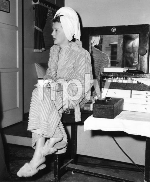 Bette Davis between scenes whlefilming