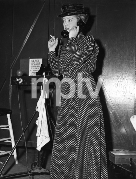 """Bette Davis on the set of""""The Corn Is Green,"""" 1945.Photo by Morgan - Image 0701_1278"""