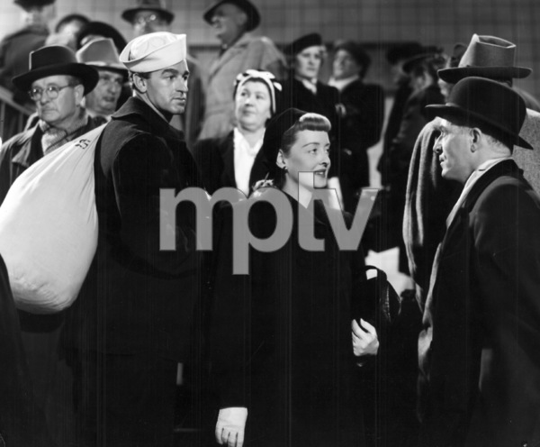 """Bette Davis and husband William Grant Sherry (as extra)in """"Winter Meeting""""1948 / WarnerPhoto by Morgan - Image 0701_1288"""