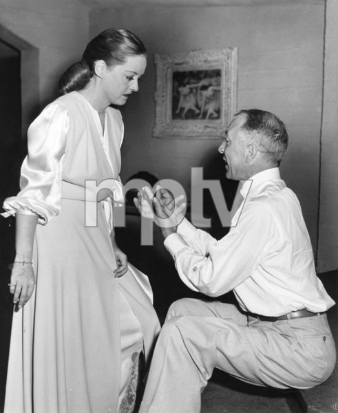 "Bette Davis, Henry BlankeBehind the scenes of ""Deception,"" 1946.Photo by Pat Clark - Image 0701_1298"