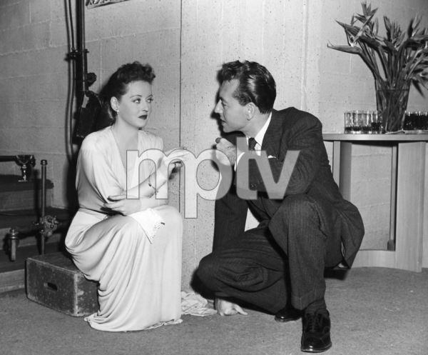 "Bette Davis, Paul Henreidon the set of ""Deception,"" 1946.Photo by Frank Bjerring - Image 0701_1306"