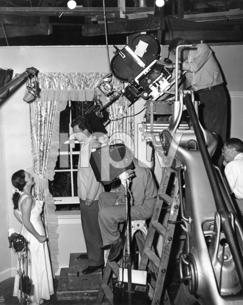 """Bette Davis and Joseph Cottenbehind the scenes of """"Beyond The Forest""""1949 / WarnerPhoto by Eugene R. Richee - Image 0701_1364"""
