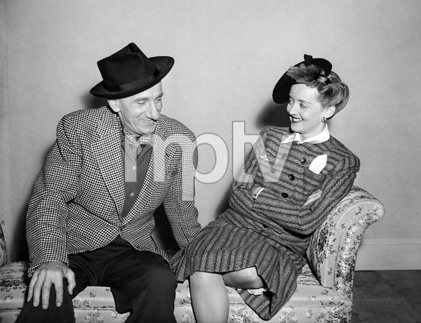 Bette Davis and Jimmy Durante inbetween scenes in THE MAN WHO CAME TO DINNER, WB, 1942,  I.V. - Image 0701_2234