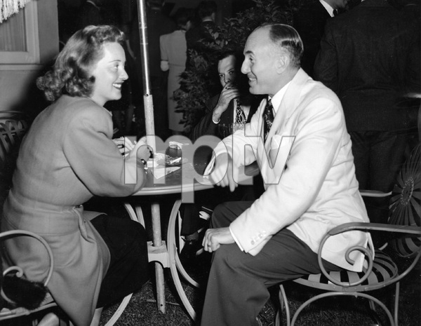 Bette Davis with Jack Warner at studio party, circa 1945, I.V. - Image 0701_2241