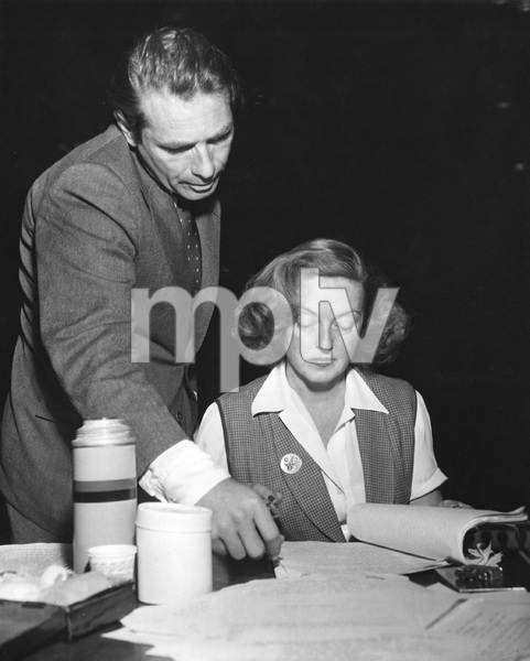 Bette Davis with Gary Merrill, CBS photo by Ben Polin, 1952, I.V. - Image 0701_2242